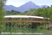 Tension tie systems with rod anchors from BESISTA for the bridge in Siezenheim, Austria - 363