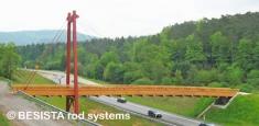 Bridge guyed by BESISTA tension ties - Staendehof Pirmasens - 412
