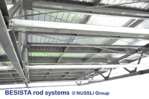 Rod systems from BESISTA for bracing the roof in the Bata Stadium - 526