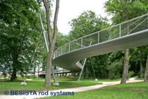 Guy cables with BESISTA tension rod systems for the bridge LGA, Neu-Ulm - 543