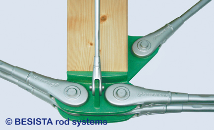 Tirants avec fourches et construction sous-tendue en fonte système BESISTA, école Kinding - 23