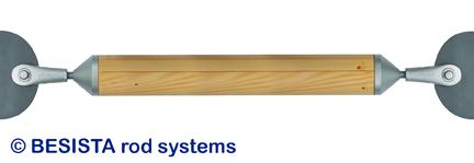 Système de barres de compression BESISTA pour constructions sous-tendues et structures spatiales dans la construction en bois - 58
