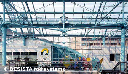 Systèmes d'haubanage BESISTA pour la construction sous-tendue avec contreventements - Galerie Essen - 62