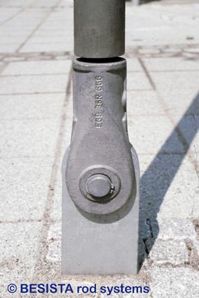 Systèmes de tirants et de barres de compression BESISTA, détail de l'ancrage de ZOB, Reutlingen - 81