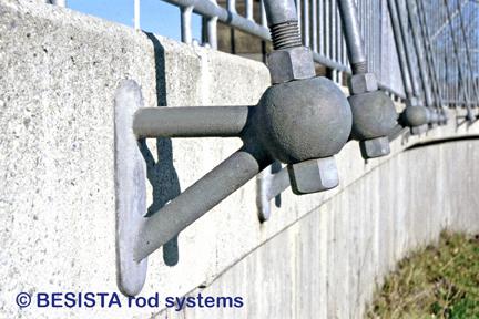 Ancrages spéciaux BESISTA et tirants avec filetages galvanisés à chaud - 150