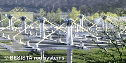 Barres d'ancrage composées de tirants et fourche du système BESISTA pour ZOB Stuttgart - 157