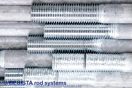 Filetages remplis de zinc et repassés sur tirants BESISTA - 165