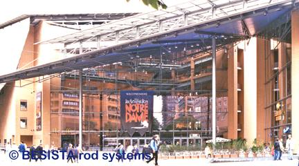 Systèmes d'haubanage dans le centre de culture Daimler, Place de Potsdam, Berlin - 199