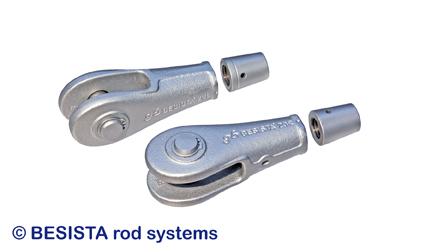 Ancrage BESISTA avec douilles couvrantes pour le raccordement des tirants et barres de compression - 208