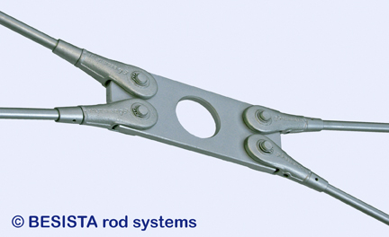 Plaque de croisement BESISTA avec découpure pour contreventements avec des angles plats - 247