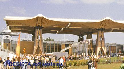 Systèmes d'haubanage BESISTA dans la toiture de l'EXPO Internationale, EXPO Hannover - 328