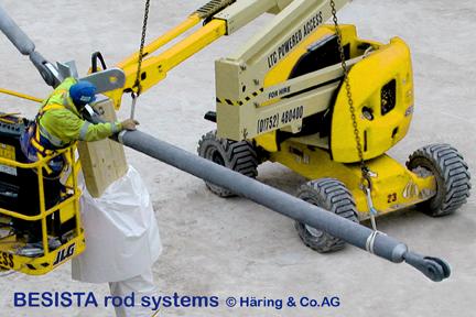 Montage des systèmes de tirantes et barres de compression BESISTA dans l'Eden Project, Angleterre - 337