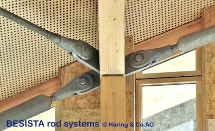 Détail des systèmes de tirants et barres de compression BESISTA dans l'Eden Project, Angleterre - 338