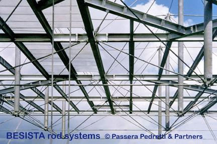 Systèmes de tirants BESISTA pour haubanages et constructions sous-tendues dans