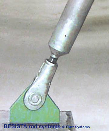 Ttirant en compression de acier BESISTA avec un ancrage/une chape M76 - 464