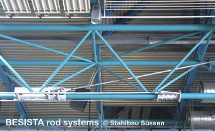 Système barres de tirant BESISTA avec ancrages pour la structure sous-tendue - 486