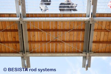 Ancrages de croisement de BESISTA avec tirants pour le contreventement d'un pont - 519