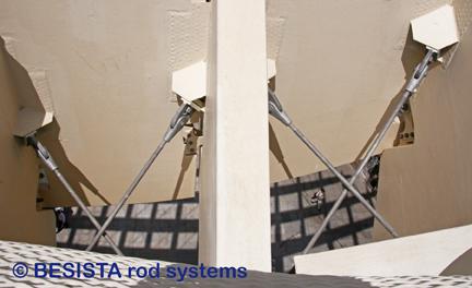 Tirants et ancrages de BESISTA utilisés dans le Metropol Parasol, Séville, Espagne - 549