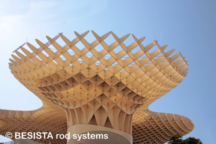 Système de barres BESISTA pour Metropol Parasol, Séville, Espagne - 554