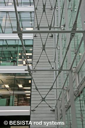 Systèmes d'haubanage BESISTA pour construction de façades PWC Parkside Zurich, Suisse - 573