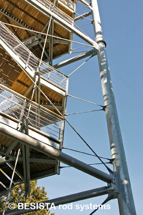 Tirants avec ancrages système BESISTA construction métallique Skywalk Scheidegg - 592