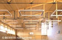 Systèmes d'haubanage BESISTA pour la construction sous-tendue et appui latéral, école Kinding - 24