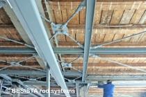 Tirants avec une fourche de BESISTA pour le contreventement d'un bâtiment historique - 175