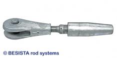 Ancrage/chape BESISTA avec barre de reduction pour attaches de câble - 182