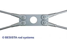 Plaques de croisement avec découpure pour pour tirants BESISTA dans la construction en acier et en bois - 248