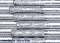Filetages remplis de zinc après la galvanisation - 283
