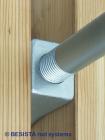 Ancrages spéciaux avec barre tendue de BESISTA stabilisent les poteaux en bois - 322