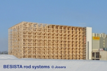 Systèmes de tirants BESISTA pour le magasin à hauts rayonnages, Josera, Kleinheubach - 459