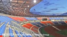 Tirants BESISTA pour les contreventements de la toiture du Stade de Bata - 528