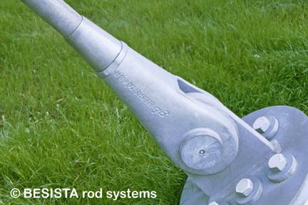 Zugglieder/Zuganker System BESISTA, Detail der Verankerung der Seilnetzstruktur - 34