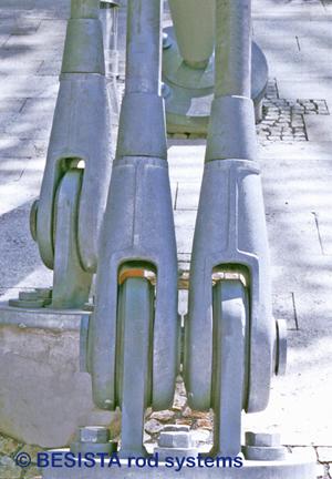 Zugstäbe mit Stabanker System BESISTA für die Abspannung der Seilnetzstruktur - 36