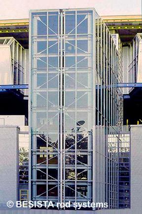 Zugstangen und Stabanker/Gabelköpfe System BESISTA für die Aussteifung des Treppenturms - 97