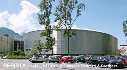 Zugstabsysteme BESISTA für das Velodrom world cycling centre Aigle Switzerland - 125