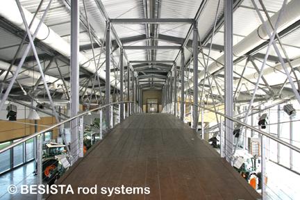 Zugstabsysteme und Druckstabsysteme von BESISTA für den Panoramasteg - 316