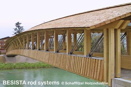 Zuggliedersysteme von BESISTA zur Abspannung der Brücke Siezenheim Austria - 362
