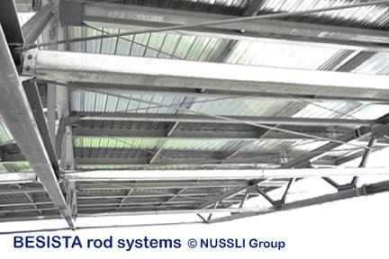 Stabsysteme von BESISTA zur Aussteifung des Daches im Estadio de Bata - 526