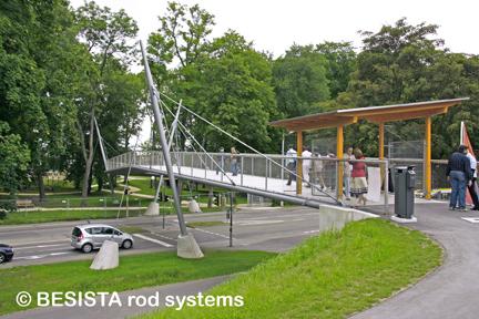 Abspannungen mit dem BESISTA Zugstabsystem für die Brücke LGA Neu Ulm - 544