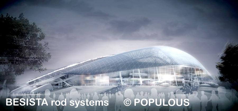 Zugstabsysteme und Druckstabsysteme BESISTA - Ansicht des Olympiastadion Sochi - 653