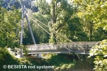 Abspannungen mit BESISTA Zugstangen - Geh und Radwegbrücke Passau - 430