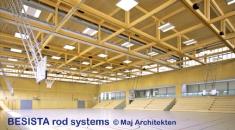 BESISTA Zugstangensysteme für die Sporthalle Frauenfeld Switzerland - 508
