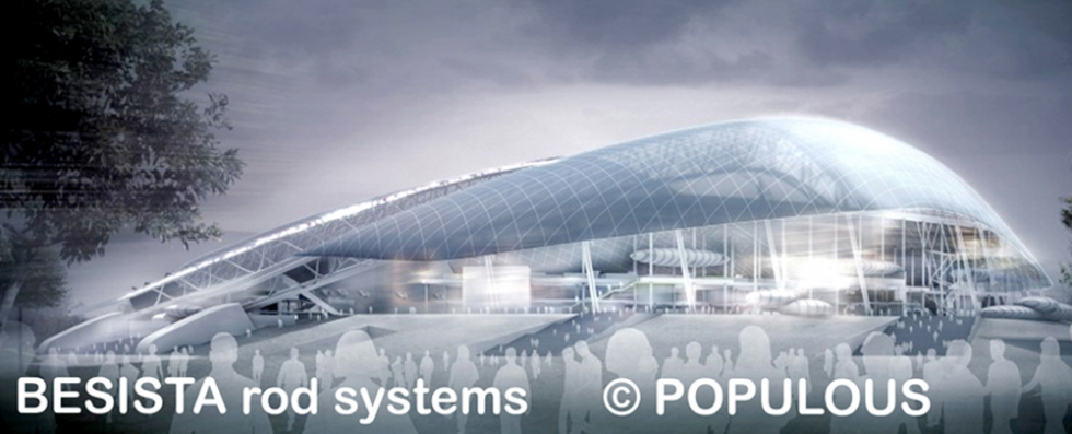 BESISTA Tension rod system - Reference Steel construction, Olympic stadium Sochi