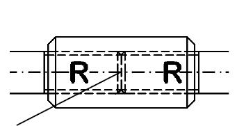 Verl�ngerungsh�lse zum Kontern von Zugstab-Zugstange BESISTA Zugstabsysteme